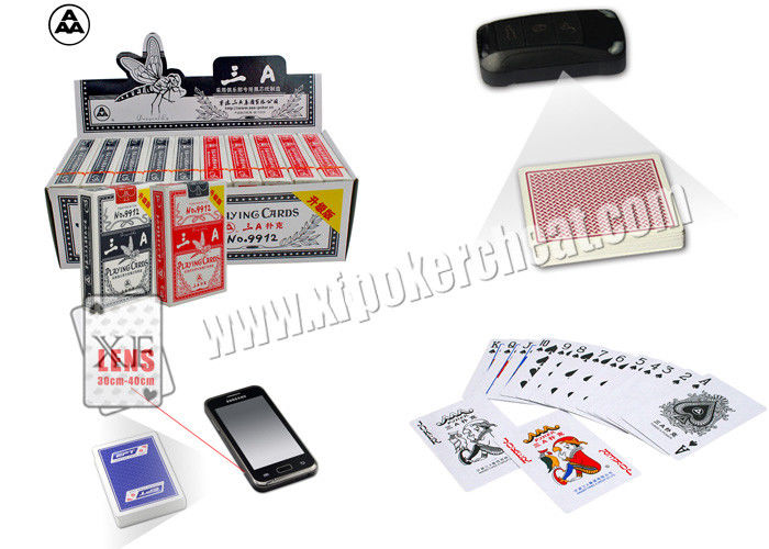 3A NO.9912 Paper Marked Poker Cards With Side Invisible Bar Codes , poker cheat card