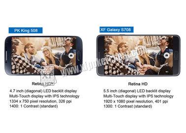 Το Τέξας τους κρατά παιχνίδι που παίζει στη σημείωση 7 γαλαξιών της Samsung τη συσκευή ανάλυσης πόκερ